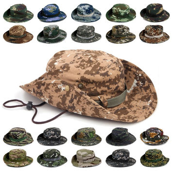 Camouflage Bucket Hats Wide Brim For Fishing & Hunting