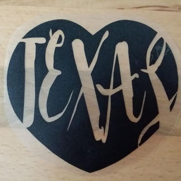 Love Texas Decal,Texas car decal,Texas car vinyl decal,vinyl decal,black car decal,black yeti decal,Texas decal,laptop decal,vehicle sticker
