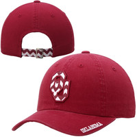 Oklahoma Sooners Top Of The World Ladies Chevron Crew Adjustable Hat – Crimson