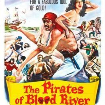 Pirates Of Blood River movie poster Sign 8in x 12in