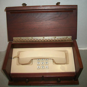 Vintage 1984 Western Electric Telephone Push Dial Hidden In Jewelry Box House Phone Land Line