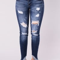 Something About These Booty Lifting Jeans - Dark Wash