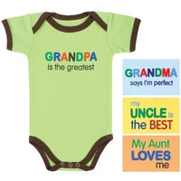 Baby Sayings Bodysuit - Relatives Boy