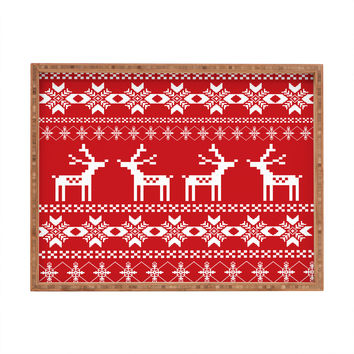 Natt Christmas Red Deer Rectangular Tray
