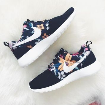 """NIKE"" Women Men Casual Flower Running Sport Shoes Sneakers"