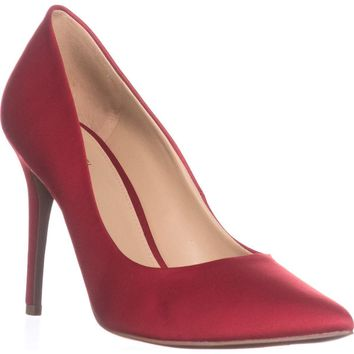 MICHAEL Michael Kors Claire Pump Pointed Toe Dress Pumps, Bright Red, 8 US / 38.5 EU