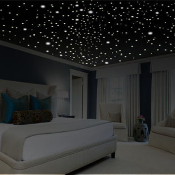 Romantic Bedroom Decor, Glow in the Dark Stars, Romantic Gifts, Romantic Wall Decal, Romantic Wall Art, Glow Stars, Ceiling Stars