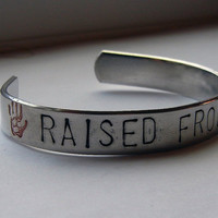 Hand Stamped 'Raised From Perdition' Bracelets - Supernatural and Destiel
