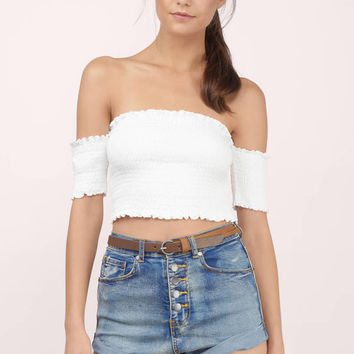 Granada High Waisted Denim Shorts