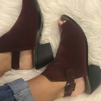 Anything Goes Booties - Burgundy