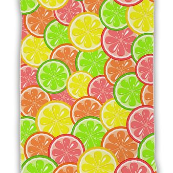 "Colorful Citrus Fruits Micro Terry Sport Towel 11""x8"" All Over Print"