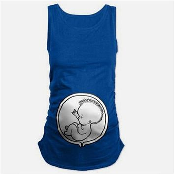 Loose Fit Clothes Comfortable Cute Baby Maternity T-shirt Pregnant Woman Tops T shirts O-Neck Pregnancy Tees shirts Plus Size
