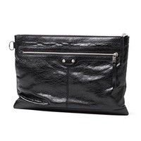 BALENCIAGA Leather Oversized Clutch Bag 273023