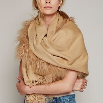 Free People Mongolian Fur Scarf