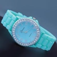 Mint Color Silicone Watch SV004 from topsales