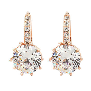 2016 New Vintage Cuff Clip Statement Drop Earrings Charming Crystal Bling Earring for Women Girls Gfit Fine Jewelry Summer Style