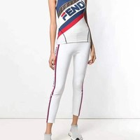Fendi Women Sleeveless Top Pants Two-Piece