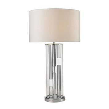 D2674-LED Trump Home Castello Clear Glass LED Table Lamp in Polished Chrome - Free Shipping!
