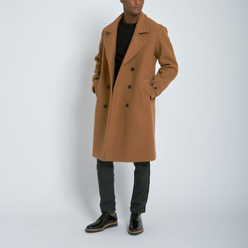 Nahariya Double Breasted Overcoat in Camel