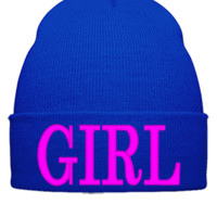 GIRL design Bucket Hat - Beanie Cuffed Knit Cap
