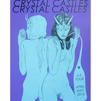 Crystal Castles Merchandise Store - Crystal Castles Miscellaneous 2013 Spring Tour Poster