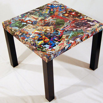 Avengers Comic Collage Table FREE SHIPPING USA