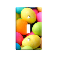 Colored Easter Eggs Light Switch Plate Cover
