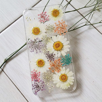Handmade Real  Natural Pressed Flowers iphone 6 6 plus case iphone 4s 5 5s 5c case cover design fashion cellphone case girl lady colorful 2