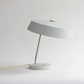 Pastel Blue Desk Lamp. GDR 60s 70s