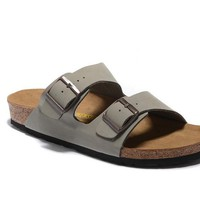 Men's and Women's BIRKENSTOCK sandals Arizona Soft Footbed Leather 632632288-021
