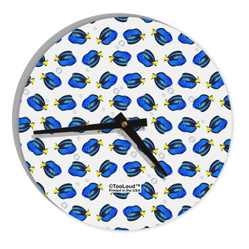 "Blue Tang Fish AOP 8"" Round Wall Clock All Over Print"