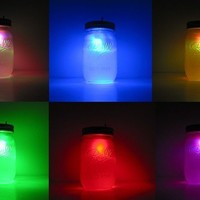 Color Changing Rainbow Mason Jar Night Light by GeekGear on Etsy