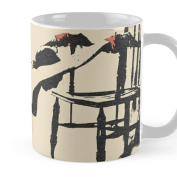 'Surreal BDSM, brunette girl tied with red ropes' Mug by sexyjustsexy