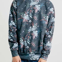 Multi-colour Moody Floral Sweatshirt