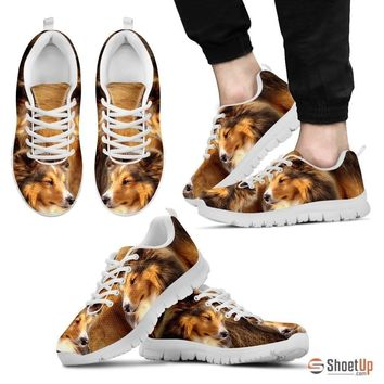 Customized Dog Print (Black/White) Running Shoes For Men-Free Shipping Limited Edition