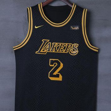 bc1d439b9 Los Angeles Lakers  2 Lonzo Ball Nike City Edition NBA Jerseys - Best Deal  Online