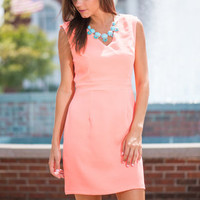 Hot Ticket Dress, Neon Coral