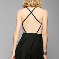 Sparkle & Fade Open Cross-Back Fit & Flare Dress - Urban Outfitters
