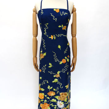 VINTAGE 1970s HORROCKSES MAXI DRESS 12