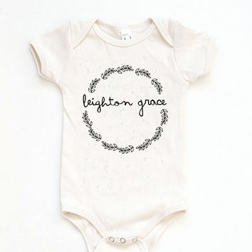 Custom Baby Gift, Custom Baby Onesuit, Name Onesuit, Baby Girl Gift, Baby Shower Onesuit, Newborn Photo Outfit, Baby Girl Take Home Outfit