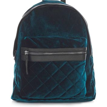 Large Velvet Backpack | Topshop