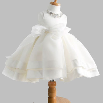 Free shipping High quailty Lace  flower girl dresses for weddings Little girls Elegant  dress  2-12  age