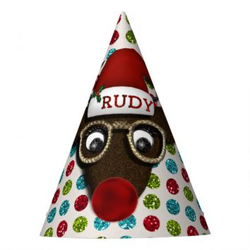Rudolph Christmas PARTY HATS