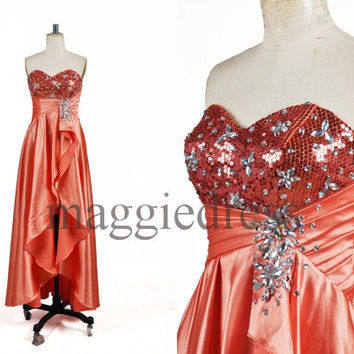 Custom Crystals Long Prom Dresess Evening Dresees Party Dresses Wedding Party Dress Homecoming Dresses Cocktail Dresses