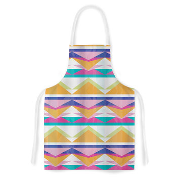"Miranda Mol ""Triangle Waves"" Geometric Pattern Artistic Apron"