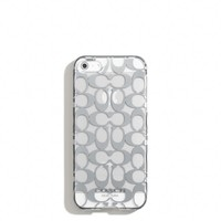 Coach :: New Iphone 5 Case In Metallic Signature Print