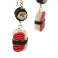 Double Sushi Dangle Earrings - Whimsical & Unique Gift Ideas for the Coolest Gift Givers