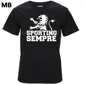 Sporting Portugal Sporting Lisbon club t shirt Camiseta Sporting Club de Portugal Lion fan T-shirt Ronaldo Figo Nani white green