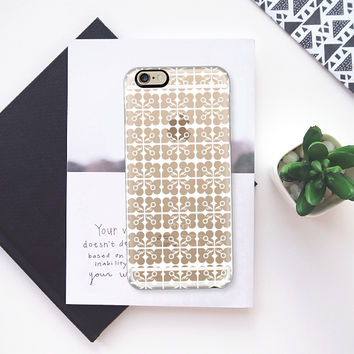 Natural Flower silver transparent iPhone 6s case by Heaven Seven | Casetify