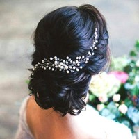 Bridal Comb Hair Vine Crystal Headpiece